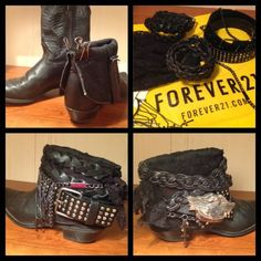 DIY Bohemian Boots|Add a Small Flair to Old Boots