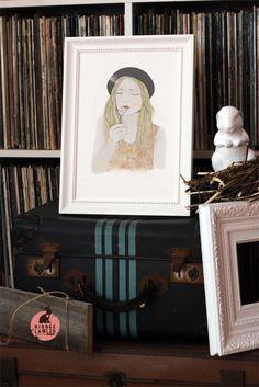 Dandelion Girl... nice styling for a framed print