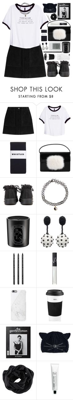 """Iris"" by majomilk ❤ liked on Polyvore featuring rag & bone, H&M, Whistles, Yves Saint Laurent, Ganni, Monsoon, Diptyque, Oscar de la Renta, Design Letters and NARS Cosmetics"