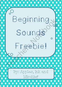 Beginning Sounds Matching Freebie! from Apples, Ink and Mischief on TeachersNotebook.com (9 pages)  - Beginning Sounds Matching Game