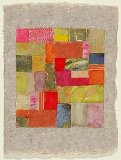 Untitled (#424) ca. 1953 Anne Ryan, born Hoboken, NJ 1889-died Morristown, NJ 1954 fabric, paper and tempera on paper mounted on paper sheet: 6 7/8 x 5 1/8 in. (17.5 x 13.0 cm) Smithsonian American Art Museum, Gift of Elizabeth McFadden 1972.53.3