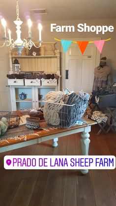 Our Wool Shoppe is now open! Stop by to check out our yarns, roving, core spun rug yarn, and other wool products! Open Tuesday to Thursday