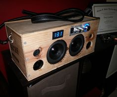 I have been watching instrutables for a while and also YouTube videos and forums. this is from where all my ideas came from. to make this little boombox i used a wine bottle wood case which i cut down to a smaller size ,a 12v 12ah battery, a lepai 2020+ amp, two speakers i found at a local thrift shop and a volt meter, plus a couple of spare wires i had laying around. total cost was about 75$ battery at a local warehouse 15$lepai amp- 20$speakers at a thrift shop-8$Bluetooth…