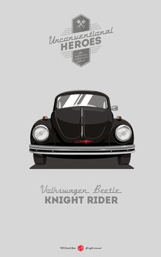 Unconventional Heroes | Illustrator: Gerald Bear #vwbug #nightrider