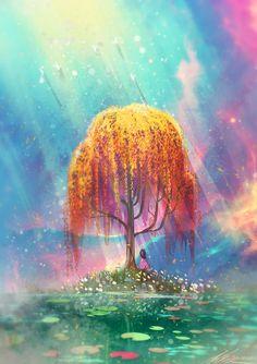 OASIS by ZandraArt on tumblr #illustration #Dreamscape ♥♥