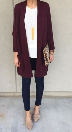 14 Super Cheap Cardigan Fall Outfit Ideas You Must Try 14 Cheap Fall Outfit Ideas You Must Try - Style Spacez Cheap Fall Outfits, Fall Winter Outfits, Spring Outfits, Winter Fashion, Casual Outfits, Winter Dresses, Purple Fall Outfits, Classy Outfits, Fall Outfit Ideas