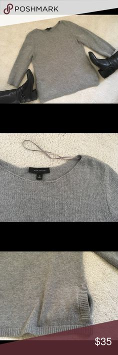 Ann Taylor Sweater Lovely Ann Taylor sweater to top off your skinny pants.  Mid-to heavy weight with long sleeves and side slit pockets.  In excellent condition. Ann Taylor Sweaters Crew & Scoop Necks