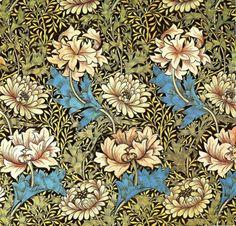 missfolly:  1876 Chrysanthemum Wallpaper, by William Morris