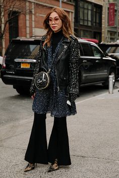 On the street at New York Fashion Week Fall 2018.
