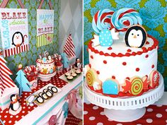 Winter Candyland First Birthday Party // Hostess with the Mostess® Boys 1st Birthday Party Ideas, Winter Birthday Parties, Christmas Birthday, Birthday Cake, Christmas Parties, Christmas Treats, Christmas Decorations, Winter Party Themes, Winter Theme