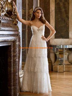 Robe de mariée dentelle en cascade