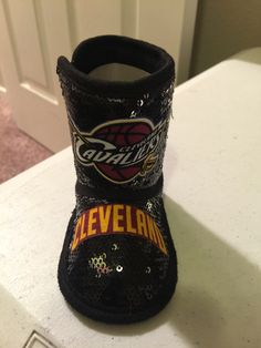Cleveland cavaliers baby boots - ck out my creations at etsy.com search loley  pops creations 37c656501