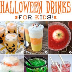 If you're hosting a Halloween party you're going to need some fun non-alcoholic Halloween drinks for kids! Get lots of fun Halloween drink recipes here!