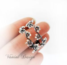 Pearl hoop earrings Flower hoop earrings Sterling Silver