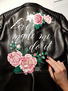 Bridal jacket by Bridal Jackets, Painting Leather, Boho Bride, Women Life, Bomber Jacket, Hand Painted, In This Moment, Collection, Instagram