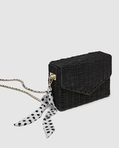 11c4542d7af RAFFIA CROSS-BODY BAG DETAILS 3,790 RSD COLOR: Black 3338/304 Fashion  Handbags