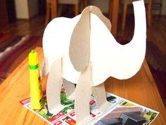 Cardboard Animals, Dinosaur Crafts, Kids Animals, Elephants