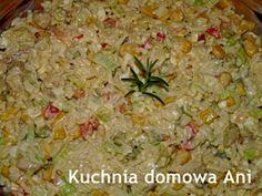 Kuchnia domowa Ani: Sałatka ryżowa z kurczakiem