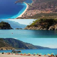 Oludeniz, Turkey  Widely regarded as being home to the most photographed beaches anywhere in the Mediterranean, Olu Deniz is located on the cost of the Aegean Sea in south west Turkey.  Masses of crystal clear, stunning blue sea and white sandy beaches can be seen from almost any point in the town, but if you're wanting to see the beauty from above, take off from Babadag Mountain, one of the most popular places in the world to paraglide from.