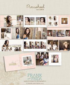 12x12 Album Template Pinwheel by frankandfrida on Etsy