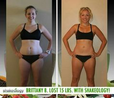 """Brittany B. lost 15 lbs while adding Shakeology to her workouts! """"Because of the proper nutrients and fuel I receive from Shakeology, I can easily get through the day, have the mental clarity to focus on my tasks, and I sleep so much better at night. Does Shakeology Work, What Is Shakeology, Shakeology Reviews, Shakeology Results, Shakeology Benefits, 21 Day Beach Body, Healthy Meal Replacement Shakes, Beach Body Challenge"""
