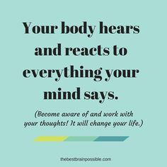 Your #thoughts change your #brain, your #cells and your #genes.    #thoughts #epigenetics #mind #neuroscience