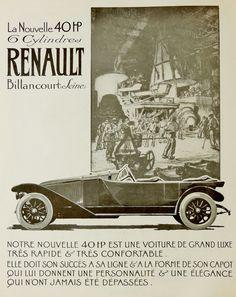 RENAULT Billancourt | France 40 HP  1919 Advertise