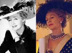 Judy Davis and Hedda Hopper from Feud: Bette and Joan Transformations: See How Much the Cast Looks like the Real-Life Figures