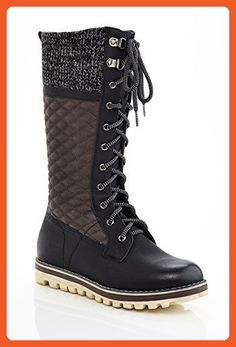 5b4f1b6c5871 Extreme by Eddie Marc Womens CHARLIE Triple Textured Tall Laceup Boot