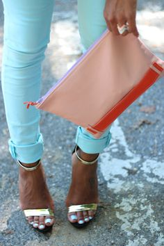 Love everything in this pic! Especially the pastel chevron rings!!