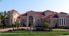House Plan 64674 | Florida Italian Mediterranean Plan with 3708 Sq. Ft., 4 Bedrooms, 5 Bathrooms, 3 Car Garage