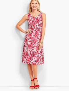 Rose-Silhouette Dress | Talbots