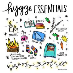 Its a gloomy Sunday which makes it a perfect day for hygge vibes! Sure its not sweater weather or cold enough for a fire but Ill be grabbing my book turning on some fairy lights and putting on some cozy socks anyway!