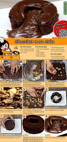 Schokoladen-Lava-Kuchen Try our chocolate lava cake recipe with video! The chocolate lava cake recipe video is easy to find using the QR code :] Easy Chocolate Lava Cake, Chocolate Desserts, Lava Cake Recipes, Lava Cakes, Paleo Dessert, Chocolate Mousse Cheesecake, Jaffa Cake, Custard Desserts, Biscuit Recipe