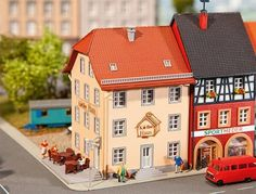 FALLER N SCALE OLD CITY CAFE MODEL BUILDING KIT 232332 #Faller