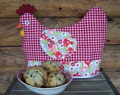 Chicken Tea Cozy pattern $6.00 on Craftsy at http://www.craftsy.com/pattern/quilting/home-decor/chicken-cozy-pattern/15780