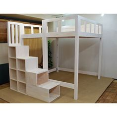 Schlafzimmer Bett Queen size loft bed stairs bed What Is An Atomic Clock? Loft Bed Stairs, Bunk Beds With Stairs, Kids Bunk Beds, Bookcase Stairs, Diy Bed Loft, Full Bed Loft, Single Loft Bed, Loft Bed Desk, Double Loft Beds