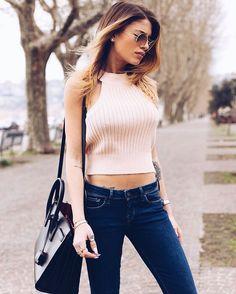 """New post on: www.chiaranasti.it wearing @pepejeans ❤️ #MyPepeJeans #Powerflex"""