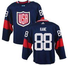 Team USA #88 Patrick Kane Navy Blue 2016 World Cup Stitched NHL Jersey