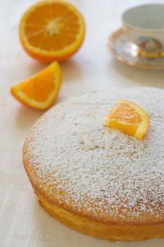 Orange cake and soft yogurt - A Sicilian in the kitchen Tortillas Veganas, Rome Food, Torte Cake, Yogurt Cake, Angel Cake, Donuts, Food And Drink, Cooking Recipes, Cheesecake