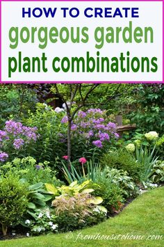 I love these ideas for creating gorgeous garden color schemes. I am updating my backyard landscaping and these tips made choosing the plants so much easier. garden tips How To Create Gorgeous Garden Color Schemes - Gardening @ From House To Home Unique Garden, Colorful Garden, Easy Garden, Landscape Design Plans, House Landscape, Landscape Edging, Landscape Art, Landscape Paintings, Landscape Photography