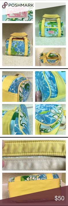 "Lilly Pulitzer Originals Exbloomsion Small Bag Vintage Lilly Pulitzer Bag. Print called ""Exbloomsion"". Has some wear and soiling straps. Bag 4.5 inches wide. 5 inches tall. 8.5 inches long. Strap drop 5 inches. Has some pen marks on the inside. Lilly Pulitzer Bags Mini Bags"