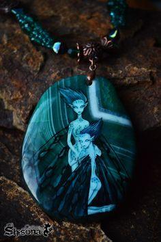 Sisters #butterfly #fantasy #green #art #handmade