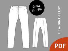 Nähanleitungen Mode - Hose DINAH LADY/ XL-5XL - ein Designerstück von so-pattern bei DaWanda