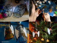 adornos navidad botellas plastico