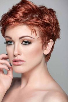 red pixie hairstyle