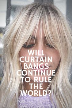 Will Curtain Bangs Continue To Rule The World? Curtain bangs may ., Will Curtain Bangs Continue To Rule The World? Curtain bangs may be here to stay Apparently, hairdressers around the country still love. Fringe Hairstyles, Hairstyles With Bangs, Hairstyle Ideas, Medium Hair Styles, Short Hair Styles, Rides Front, Curtain Bangs, Long Hair With Bangs, Wispy Bangs