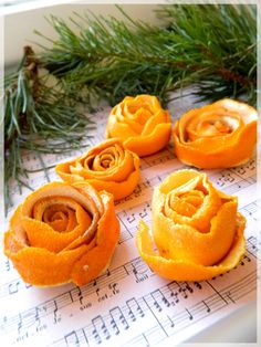 Orange peels are great natural fresheners! If you want to get fancy, you can make these simple orange peel roses. | #TheShoeMart #Fresh #DIY