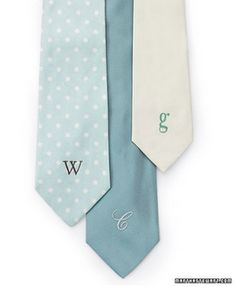 Embroidered monogrammed tie for the hubs