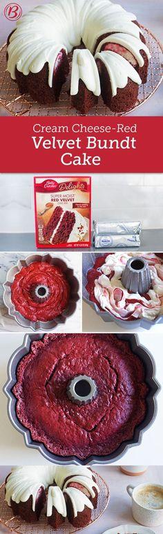 Cream Cheese-Red Velvet Bundt Cake